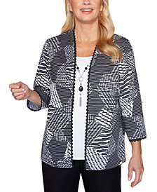 Alfred Dunner Riverside Drive Textured Layered-Look Necklace Top