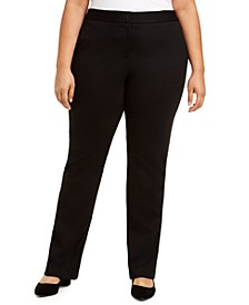 Plus Size Tummy-Control Comfort-Waist Pants, Created for Macy's