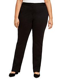 Alfani Plus Size Tummy-Control Comfort-Waist Pants, Created for Macy's