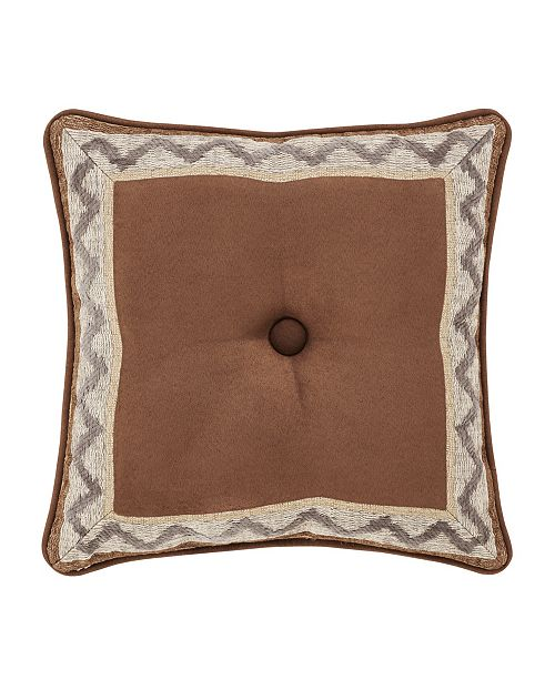 """J Queen New York J Queen Timber 18"""" Square Decorative Throw Pillow"""