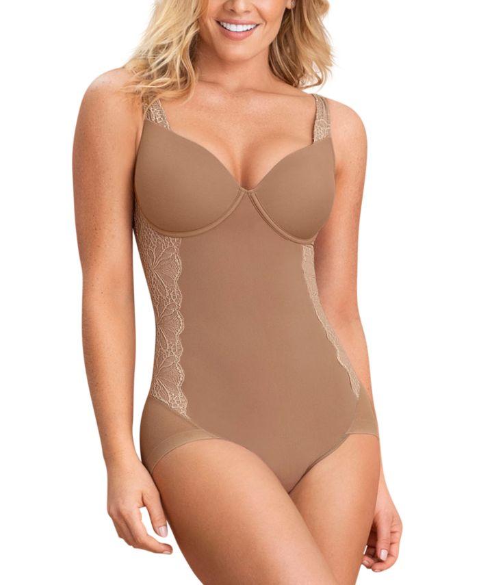Leonisa Women's Lace-Trim Faja Bodysuit Shaper 018506 & Reviews - Shapewear - Women - Macy's
