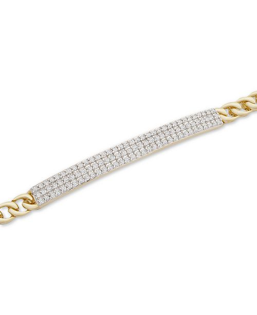 Macy's Diamond Pavé Bar Link Bracelet (1/2 ct. t.w.) in 10k Gold