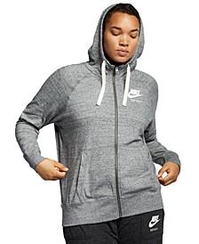 Plus Size Sportswear Gym Vintage Hoodie