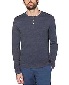 Men's Waffle Henley Long Sleeve T-Shirt