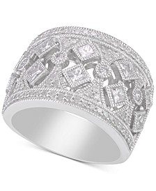Diamond Filigree Wide Band Statement Ring (1-1/4 ct. t.w.)