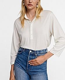 Leandra Medine Mao Collar Shirt