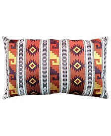 "Spice Collection Southwest Embroidery Lumbar Pillow, 13"" X 20"""