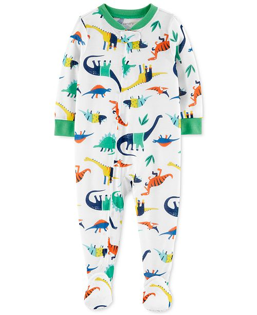 Carter's Baby Boys Cotton 1-Pc. Dino-Print Footed Pajama