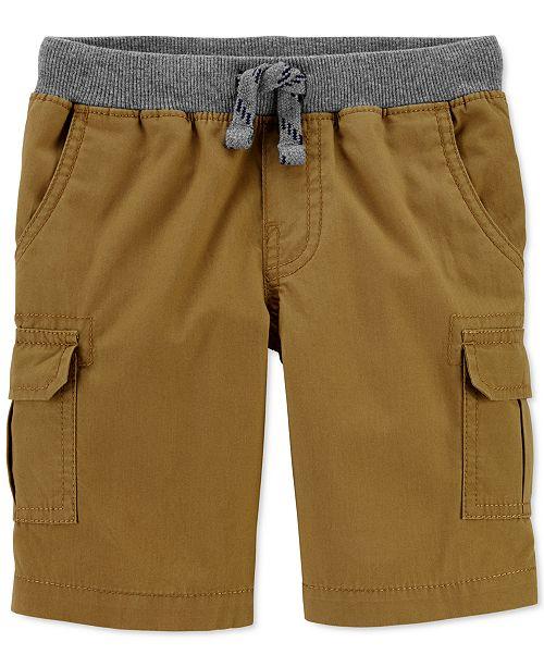 Carter's Toddler Boys Pull-On Cotton Cargo Shorts