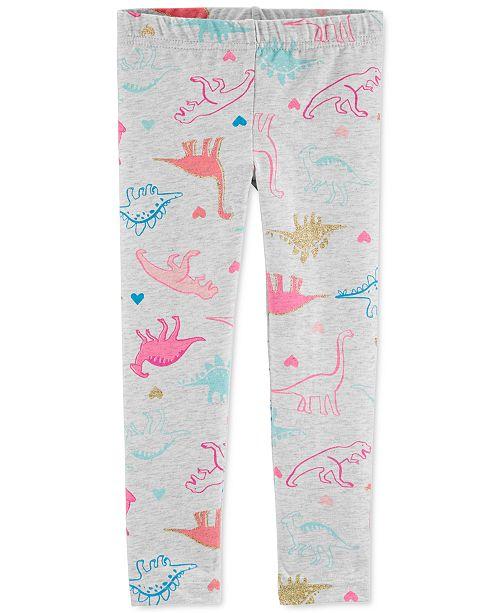 Carter's Toddler Girls Dinosaur-Print Leggings