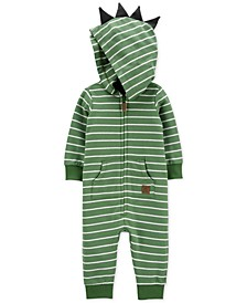 Baby Boys Cotton Dinosaur Coverall