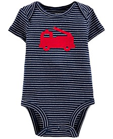 Baby Boys Cotton Firetruck Bodysuit