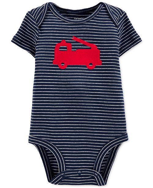Carter's Baby Boys Cotton Firetruck Bodysuit