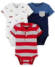 Baby Boys 3-Pk. Cotton Bodysuits