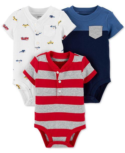 Carter's Baby Boys 3-Pk. Cotton Bodysuits