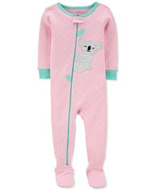 Baby Girls Cotton 1-Pc. Koala Footie Pajama