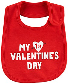 Baby Boys & Girls 1st Valentine's Day Cotton Teething Bib