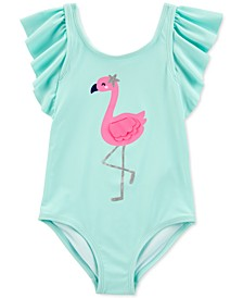 Toddler Girls 1-Pc. Flamingo Swimsuit
