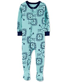 Baby Boys Cotton 1-Pc. Lion-Print Footie Pajama
