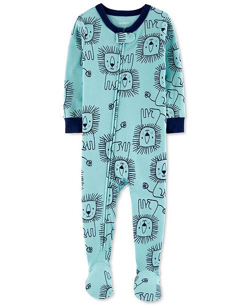 Carter's Baby Boys Cotton 1-Pc. Lion-Print Footie Pajama