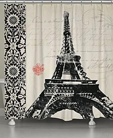 Eiffel Tower Border Shower Curtain