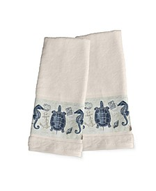 Seaside Postcard 2-Pc. Hand Towel Set