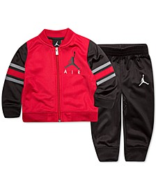 Little Boys 2-Pc. Varsity Jacket & Jogger Pants Track Suit Set