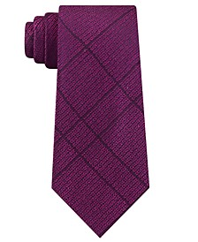 Men's Slim Knit Plaid Silk Tie