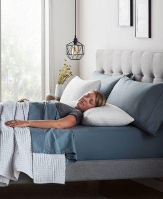 2-pack Fiber and Shredded Foam Pillow with Zippered Inner Cover, King