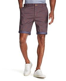 Men's Modern-Fit Stretch Houndstooth Check Shorts