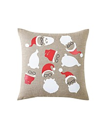 Hipster Santa 18- inch Pillow Cover