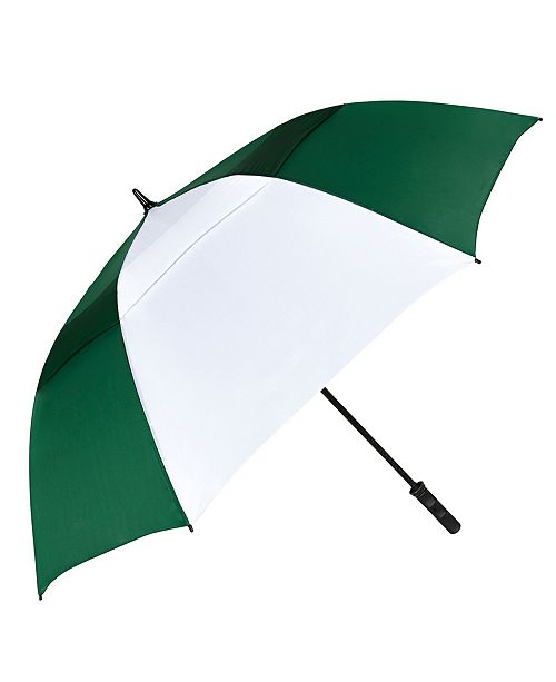 Natico Originals Green and White Vented Tornado Umbrella 64""