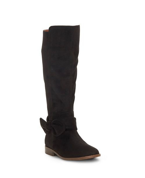 Lucky Brand Kids by Vince Camuto Big Girl's and Little Girl's Tall Boot with inside Zip and Bow Embellishment