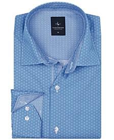 Big Boys Peri Blue Floral Dot Button-Down Shirt