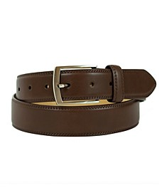 Men's Belt with Single Prong Buckle