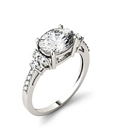 Moissanite East-West Oval Engagement Ring 2-1/3 ct. t.w. Diamond Equivalent in 14k White Gold