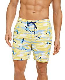 """Men's Seagull 7"""" Swim Trunks, Created for Macy's"""