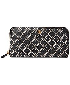 Coated Canvas Zip Continental Wallet