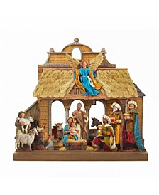 10.625-Inch Wooden Nativity Tablepiece Set