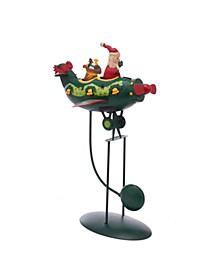 12-Inch Santa in Plane Pendulum Table Piece