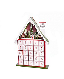 15.5-Inch Battery-Operated Light-Up House Advent Calendar