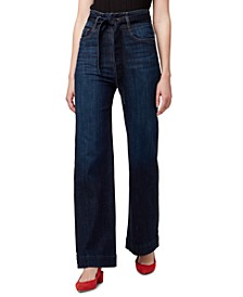 Belted High-Rise Jeans