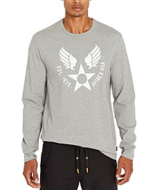 Men's Wing Star Print Long Sleeve T-Shirt