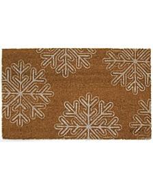 Snowflake Coir Door Mat