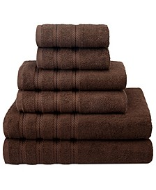 Premium, Luxury Hotel Spa Quality, for Kitchen and Bathroom, 6 Piece %100 Turkish Cotton Towel Set