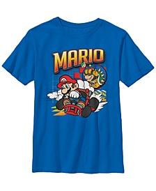 Nintendo Big Boy's Mario Kart Bowser Mario Racing Short Sleeve T-Shirt