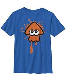 Nintendo Big Boy's Splatoon Orange Inkling Squid Splat Short Sleeve T-Shirt