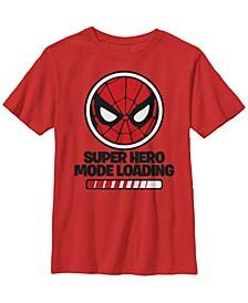 Marvel Big Boy's Spider Man Hero Mode Loading Short Sleeve T-Shirt