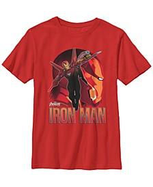 Marvel Big Boy's Infinity War Iron Man Profile Short Sleeve T-Shirt