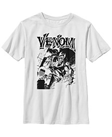 Marvel Big Boy's Venom Street Cover Comic Illustration Short Sleeve T-Shirt